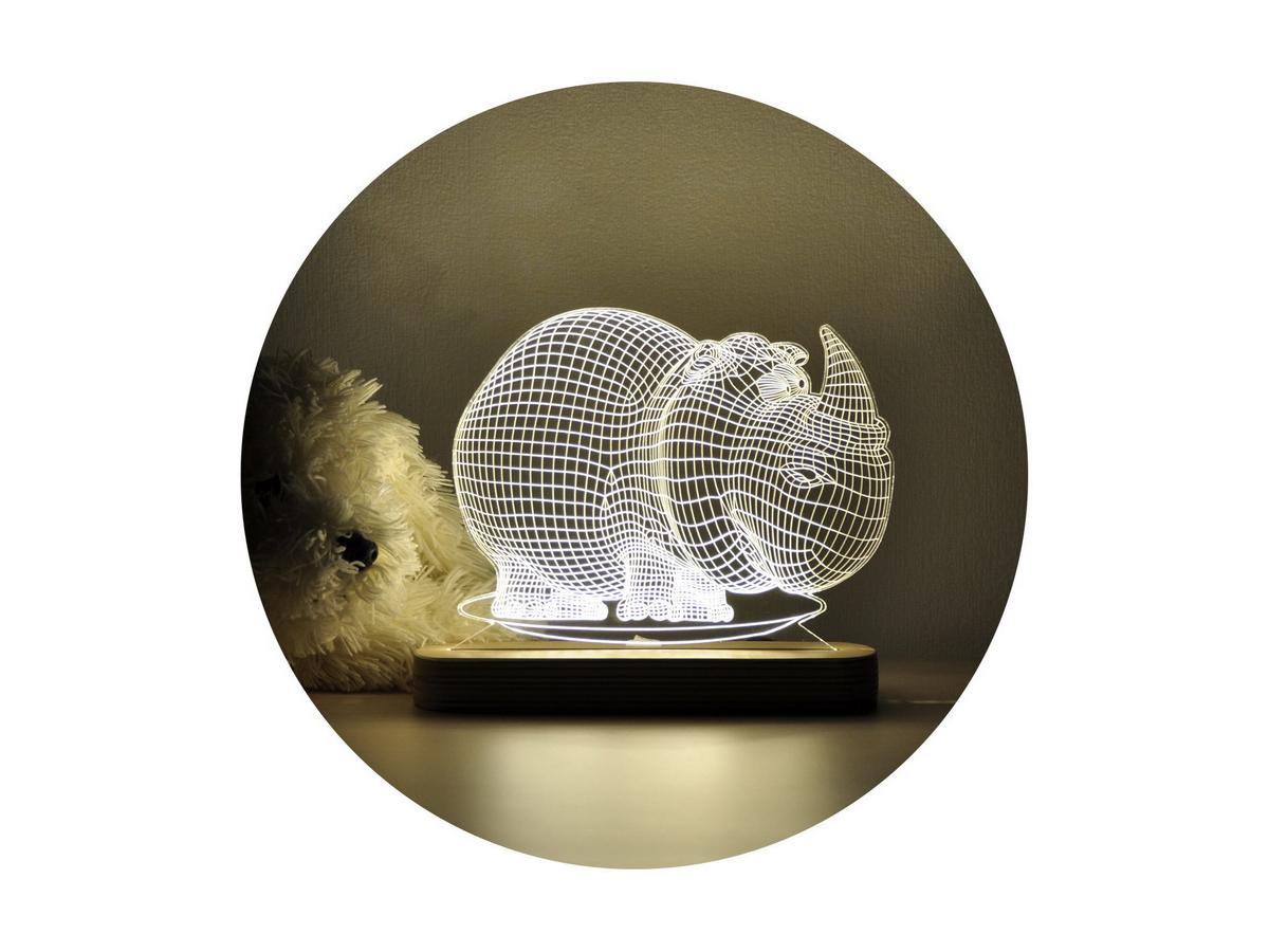 Ночник 3D «Носорог»