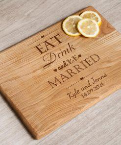 "Разделочная доска ""Eat, drink, be married"""