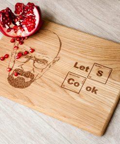 Разделочная доска с гравировкой Let's Cook