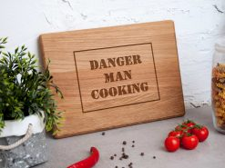 """Разделочная кухонная доска """"Danger man cooking"""""""