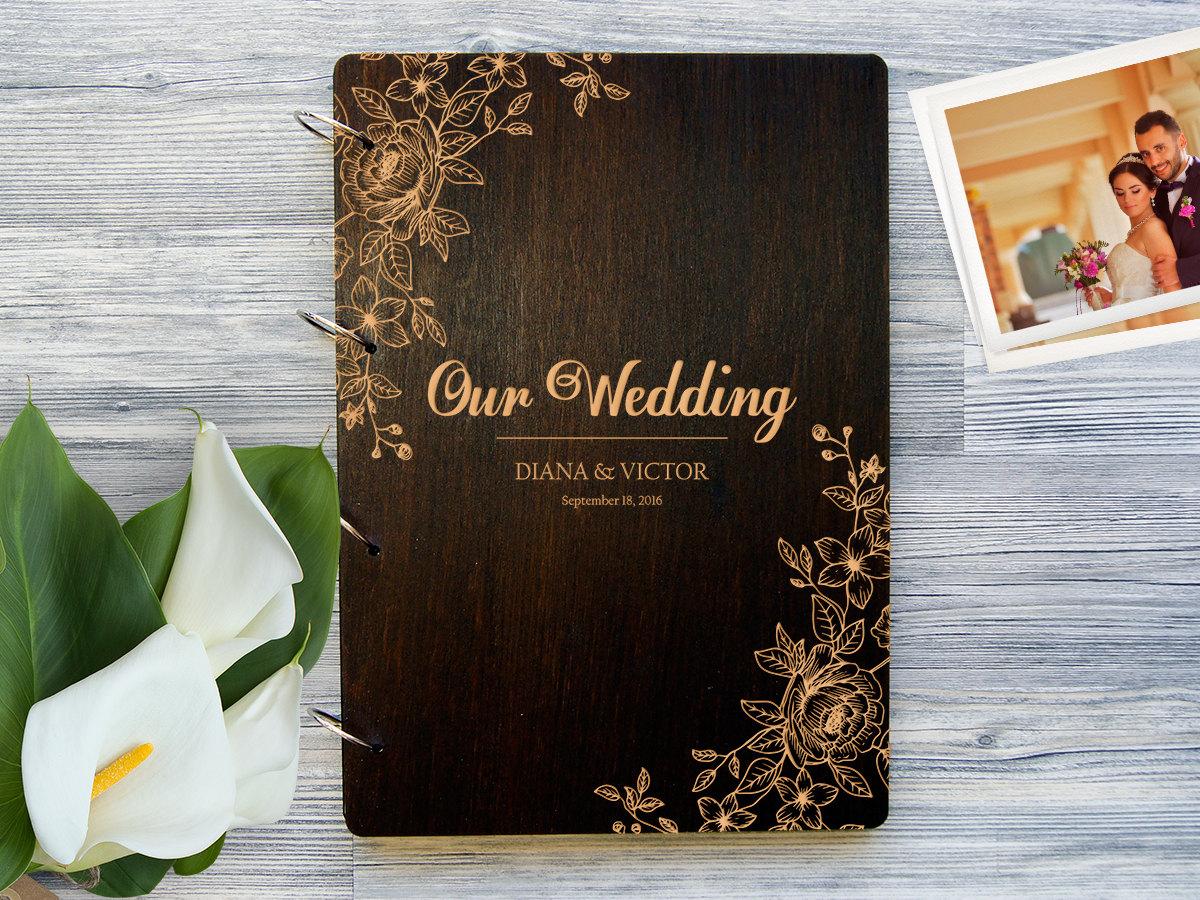 Фотоальбом в деревянной обложке «Цветы»