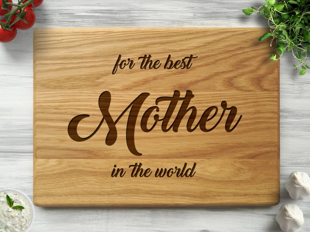 "Разделочная доска ""For the best mother in the world"""