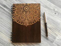 Деревянный блокнот «Mandala»