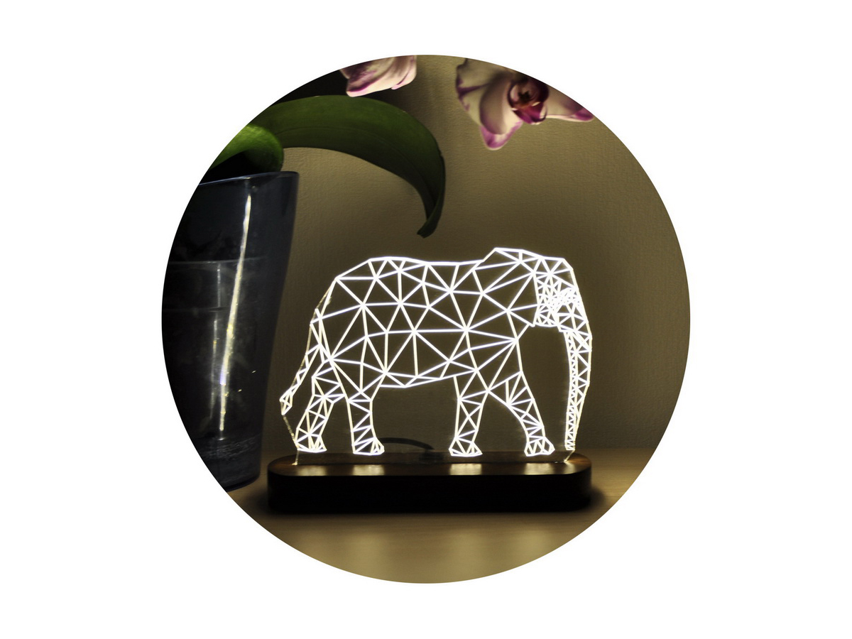 3D ночник для детей «Слон»