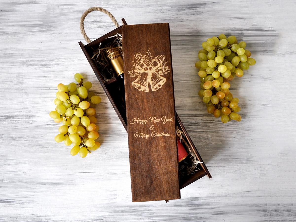 Коробка для шампанского «Колокольчики»