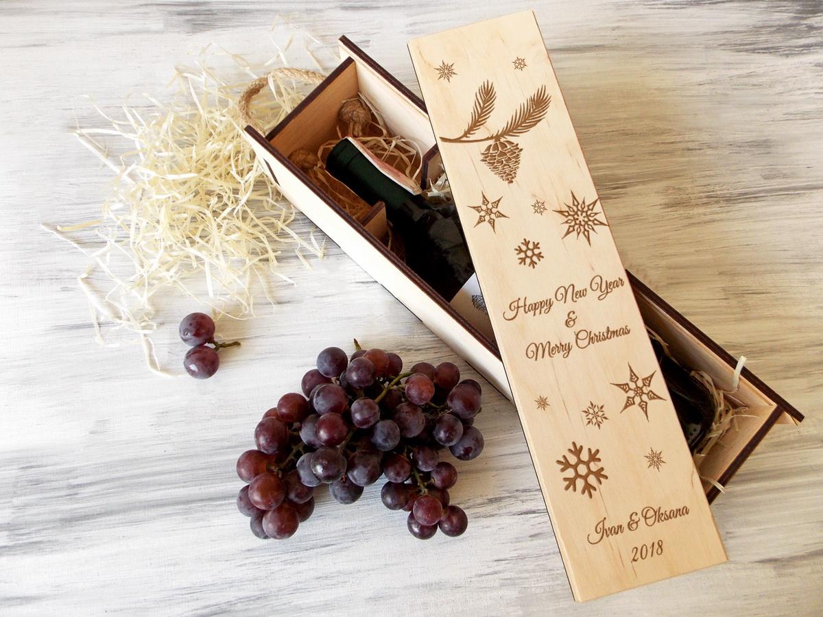 Коробка для вина «Зимние мотивы»
