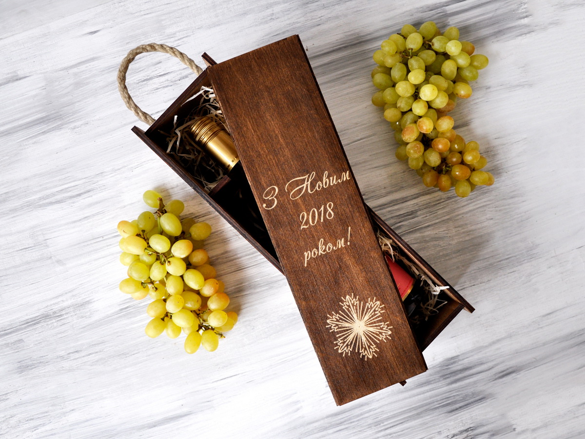 Коробка для вина «Снежинка»