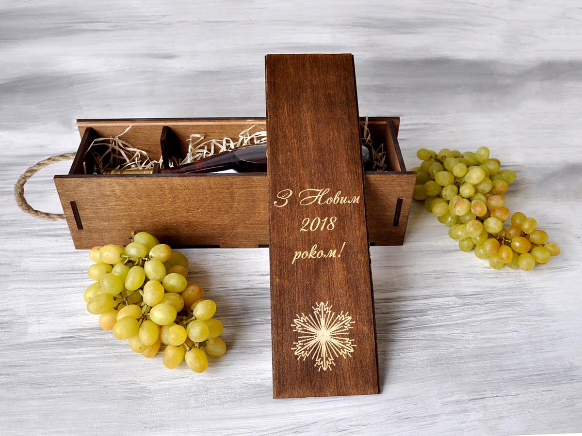 """Коробка для вина """"Снежинка"""""""