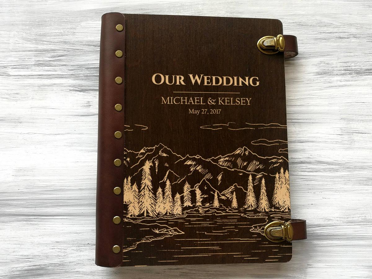 Свадебный фотоальбом в коже «Пейзаж»