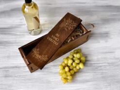 "Подарочная коробка для вина ""In vino veritas"""