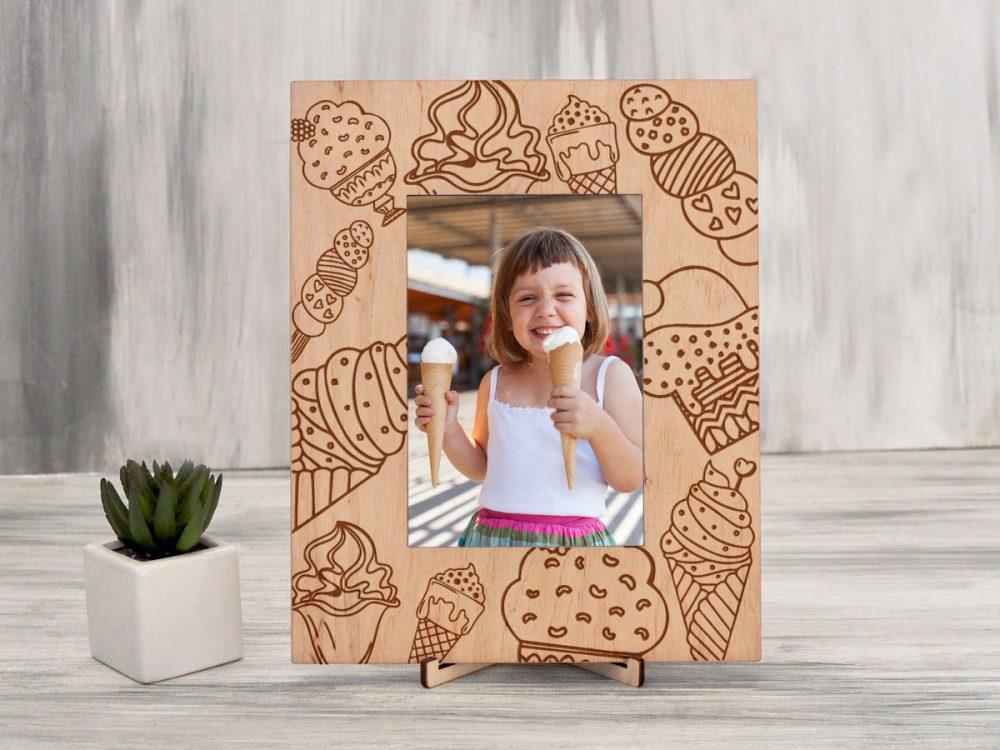 Рамка из дерева для фотографий «Мороженое»