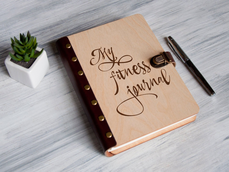 Планер в деревянной обложке «My fitness journal»