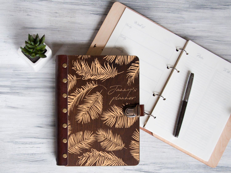 Персонализированный планер «Пальмовые листья»