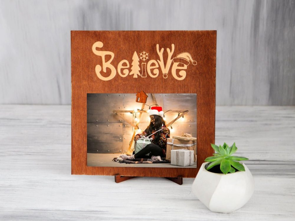 "Фоторамка с магнитом ""Believe"""