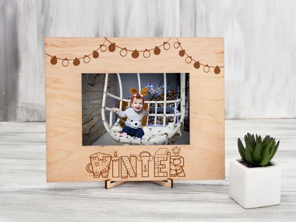 Деревянная рамка для фотографии «Winter»