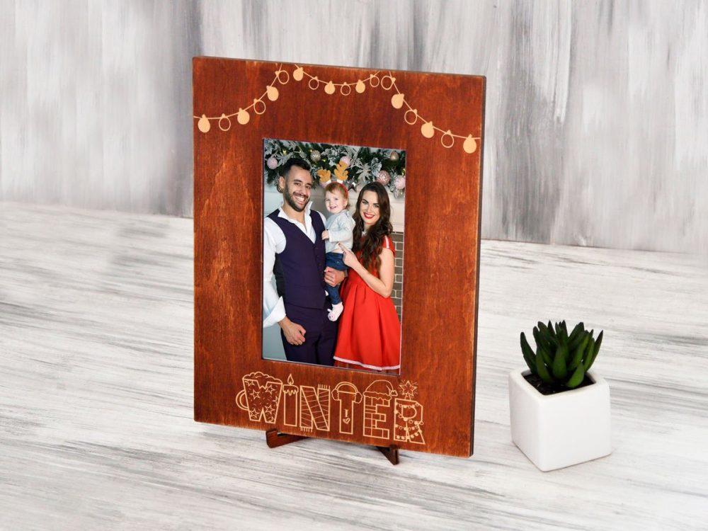 """Деревянная рамка для фотографии """"Winter"""""""