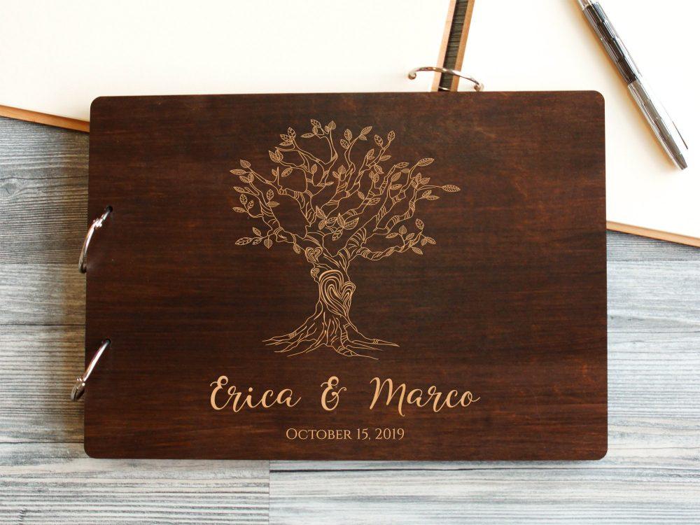 Книга пожеланий на свадьбу «Дерево любви»