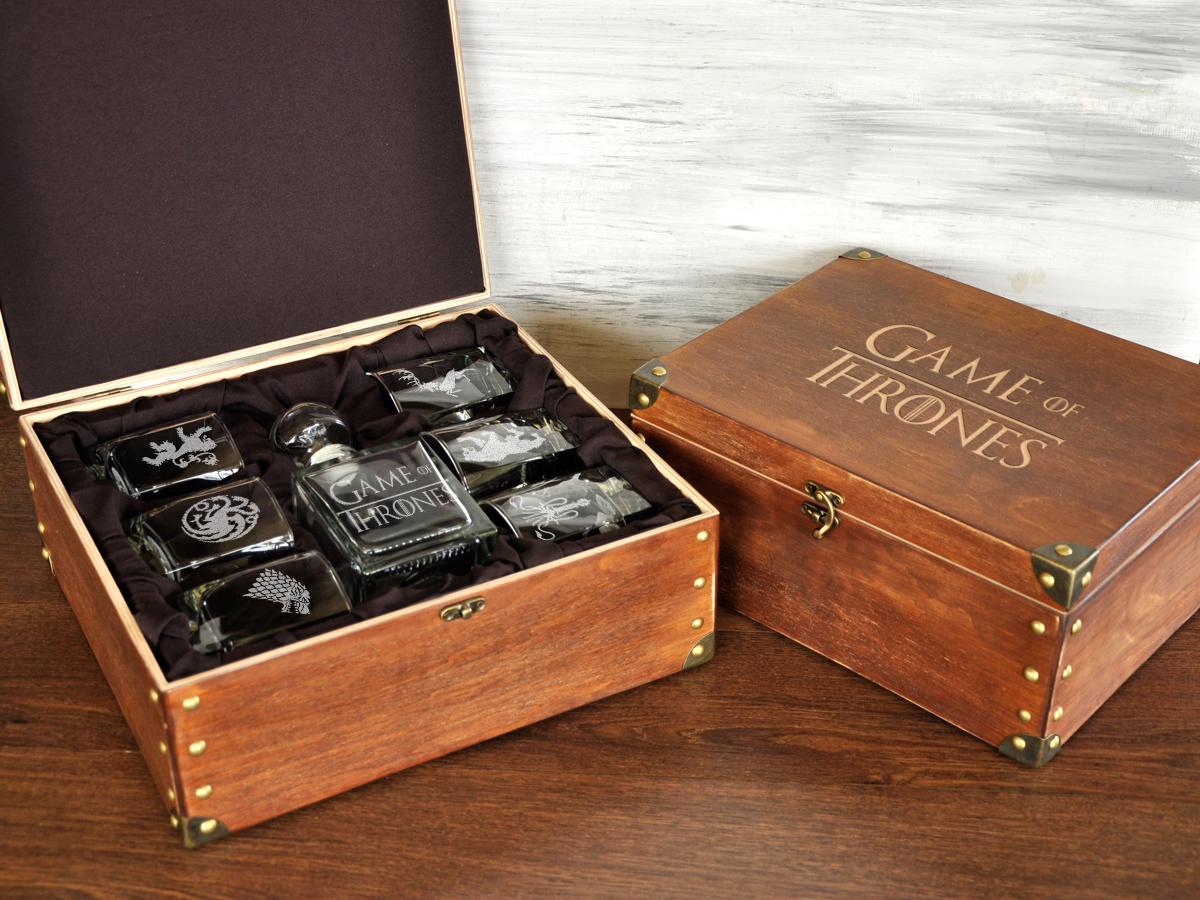 Подарок для любителей Игры Престолов, стеклянный графин и стаканы для виски