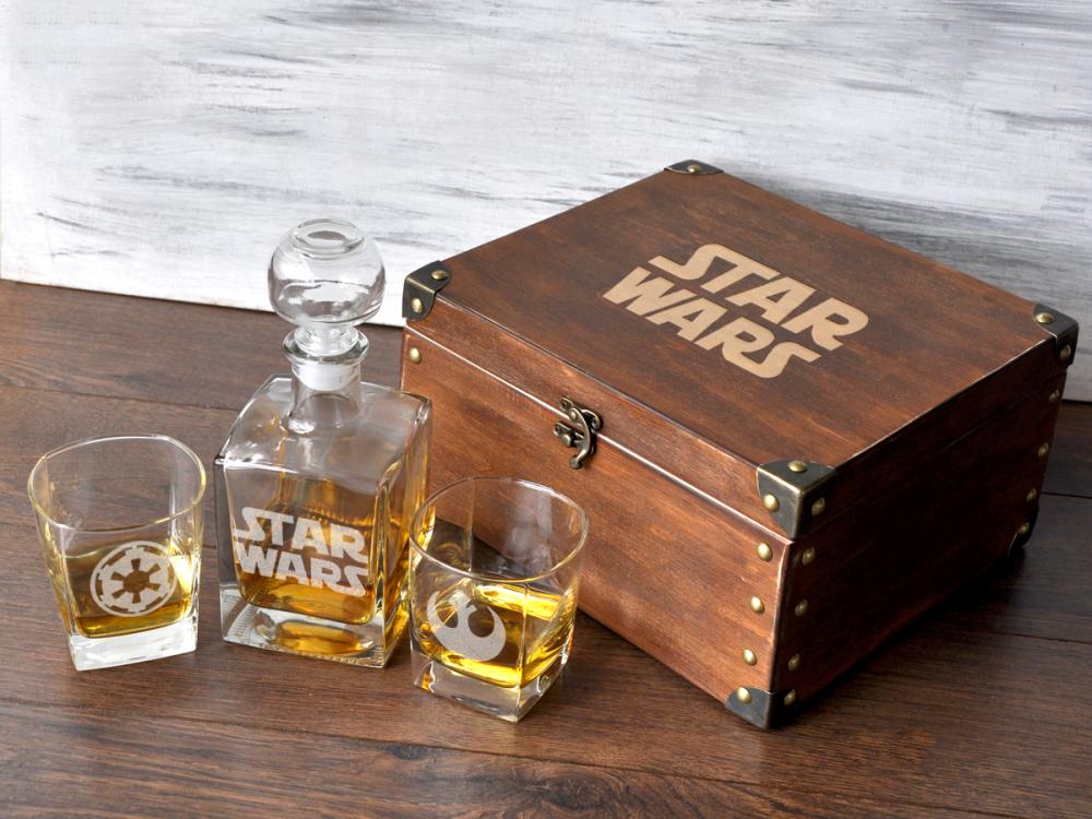 """Мужской подарочный набор для виски """"Звездные войны"""""""