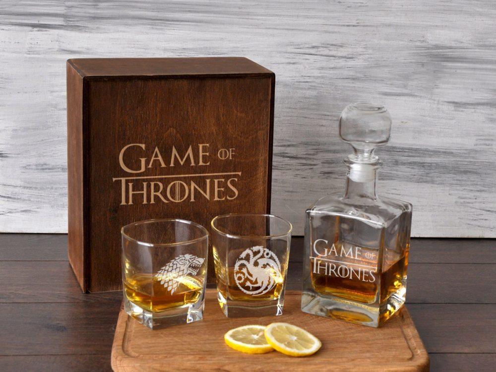 """Стеклянный набор для виски """"Игра Престолов"""""""