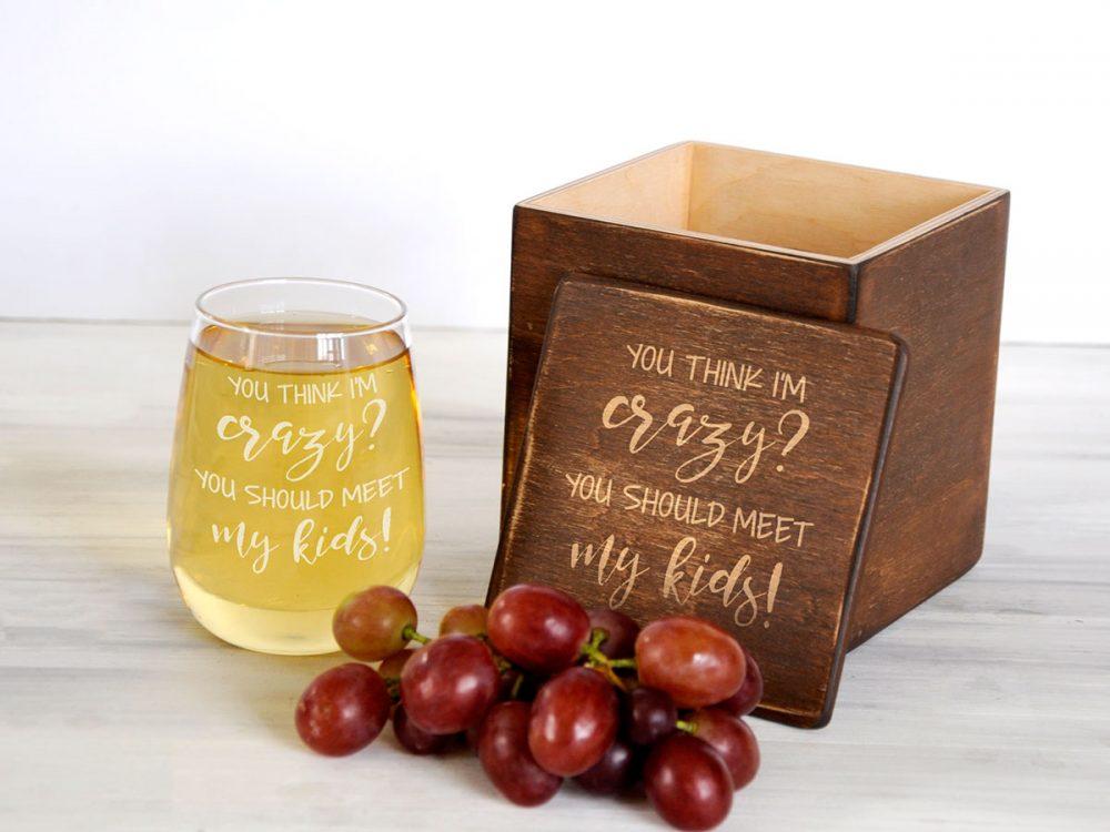 Сувенирный винный стакан с смешной гравировкой, подарок для любителя вина