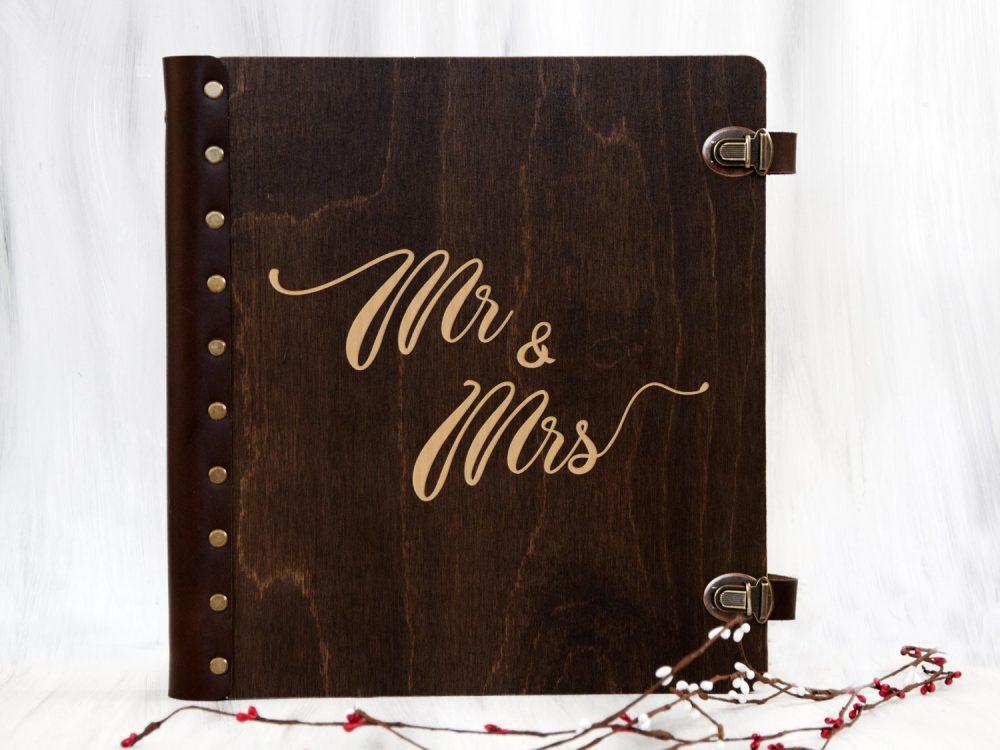 Деревянный свадебный альбом для фотографий
