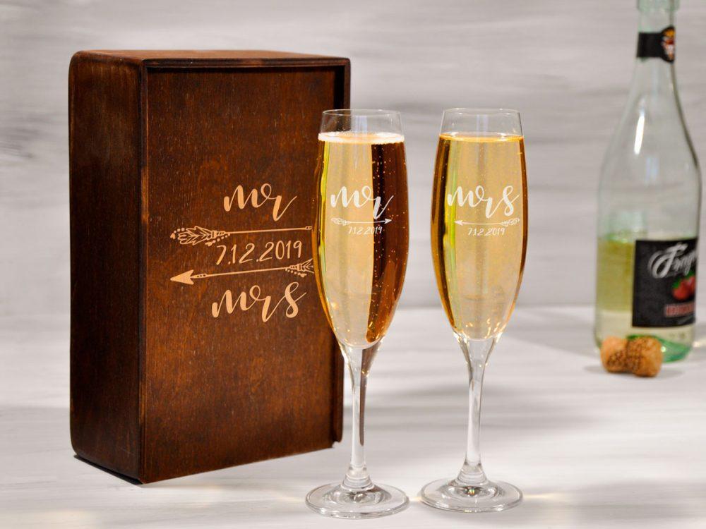 Парные бокалы для шампанского