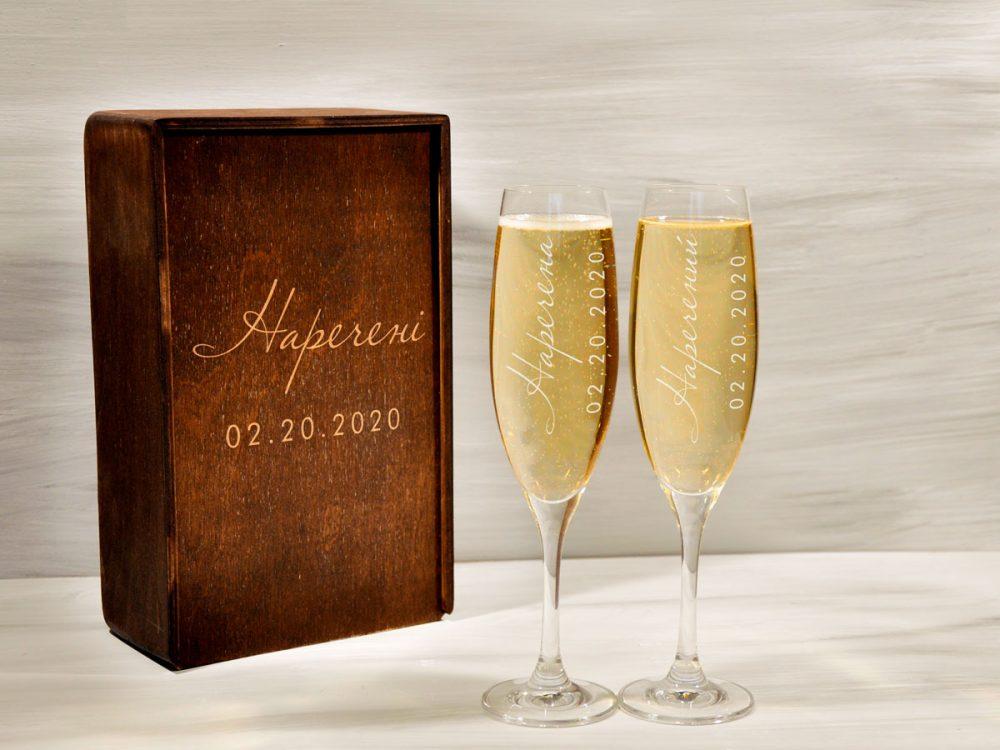 Бокалы для шампанского для молодоженов