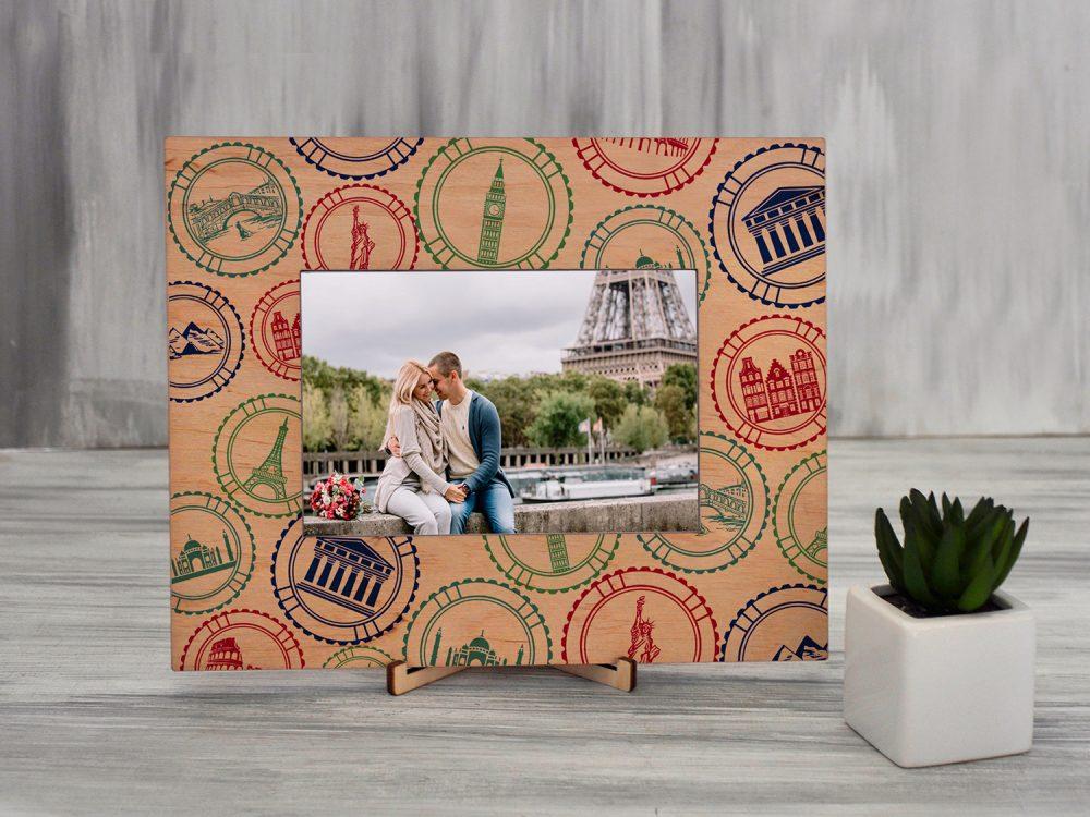 """Рамка для фото с цветной печатью """"Путешествие"""""""