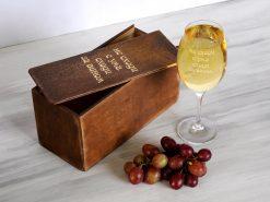 Женский бокал для вина с надписью Не сходи с ума. Сходи за вином