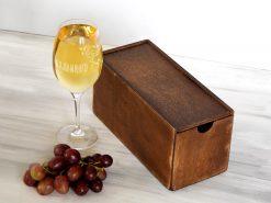 Бокал для белого вина с гравировкой Вхламинго