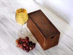Женский бокал для вина с надписью Сладкое вредное, пью полусладкое
