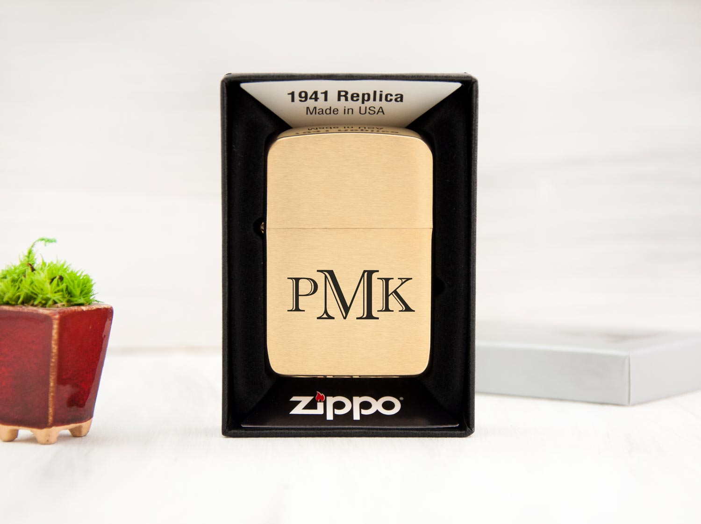 Стильная зажигалка Zippo с именной гравировкой под заказ на подарок