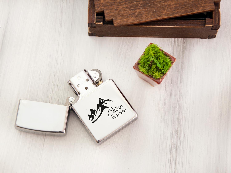 Зажигалка Zippo original с бесплатной гравировкой, подарок на 14 октября