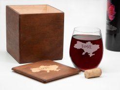 Винный стакан без ножки с уникальной гравировкой