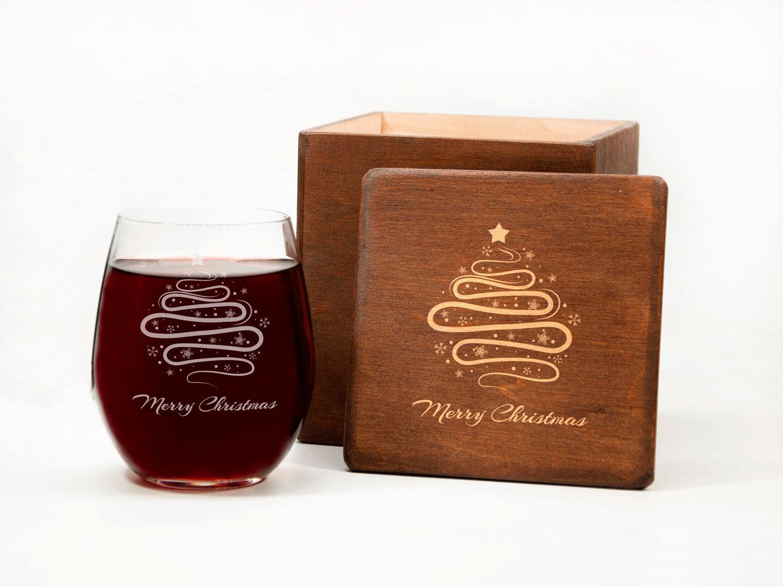 Винный стакан в рождественском стиле на заказ