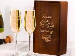 Бокалы для шампанского на свадьбу с бесплатной гравировкой