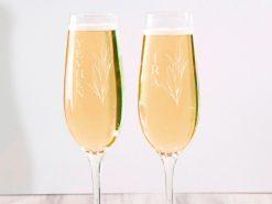 1Именные свадебные бокалы для шампанского с гравировкой на заказ