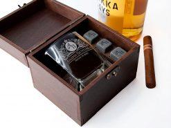 Набор для охлаждения виски с гравировкой на одну персону
