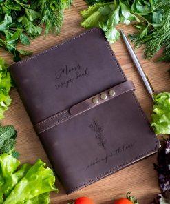 Книга рецептов из кожи со страницами по вашему выбору