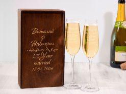 Свадебные бокалы для шампанского на заказ