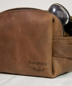 6Женская сумочка с двумя молниями для туалетных принадлежностей с именной гравировкой